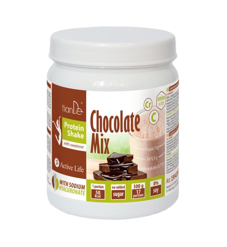 mix czekoladowy tiande center 768x835 - Czekoladowy koktajl-mix proteinowy ze słodzikiem