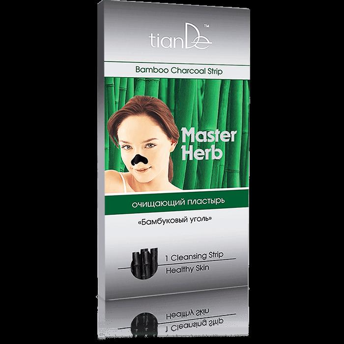 oczyszczajacy plaster na nos tiande center - Plaster oczyszczający na nos Węgiel bambusowy