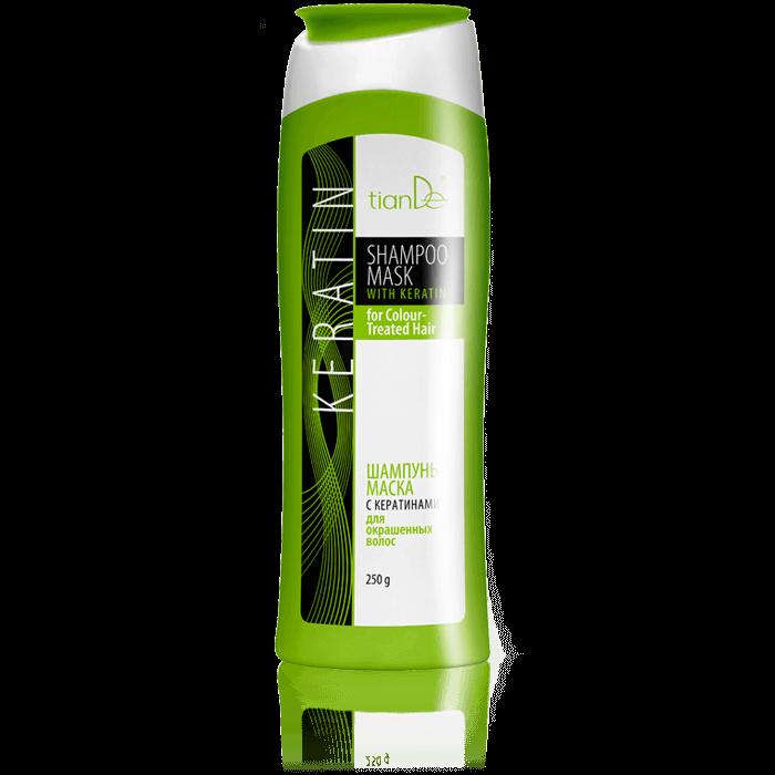 szampon kreatyna do wlosow tiande center - Szampon-maseczka z keratyną do włosów farbowanych