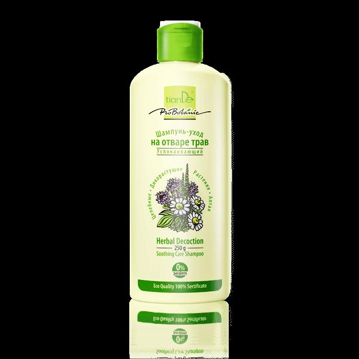 szampon ziolowy tiande center - Łagodzący i pielęgnujący szampon z wyciągu ziołowego