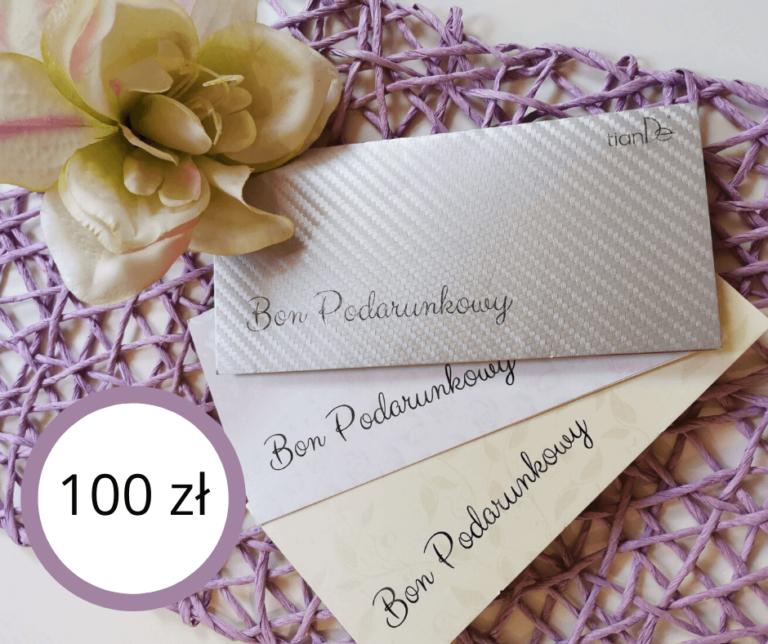 bon podarunkowy 100 tiande center 768x644 - Bon Podarunkowy 100