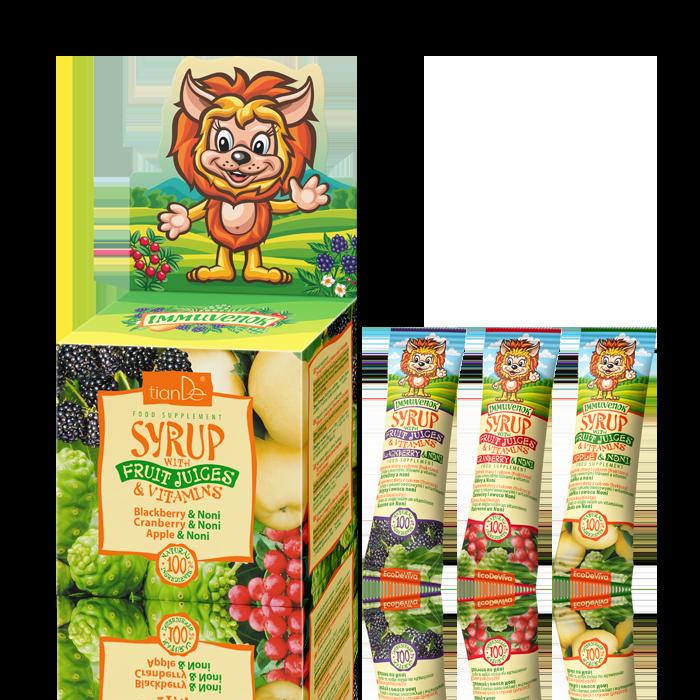 syrop - Syropy z sokami owocowymi i witaminami